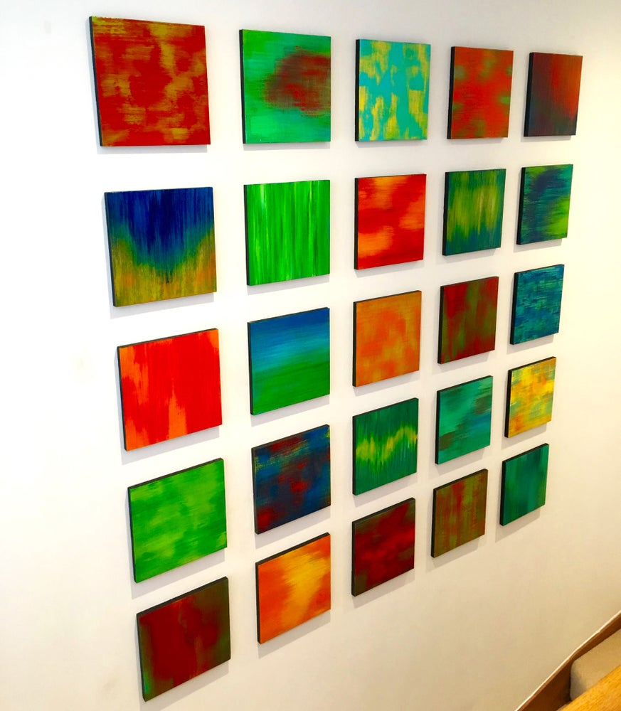 Image of 'COLOR BLEND BLOCKS' | Wood Wall Art | Wall Decor | Colorful Art | Modern Wall Sculpture