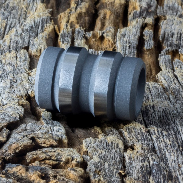Image of Keg Blasted & Machined Ti Bead