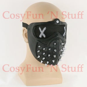 Image of Watch Dogs 2 Deadsec Aiden Pearce Wrenc Cosplay Mask Half Face Mouth-Muffle Prop