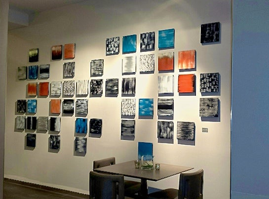 Image of 'BOURBON STREET' | Modern Wall Art | Hospitality Art | Lobby Art | Large Wood Wall Art