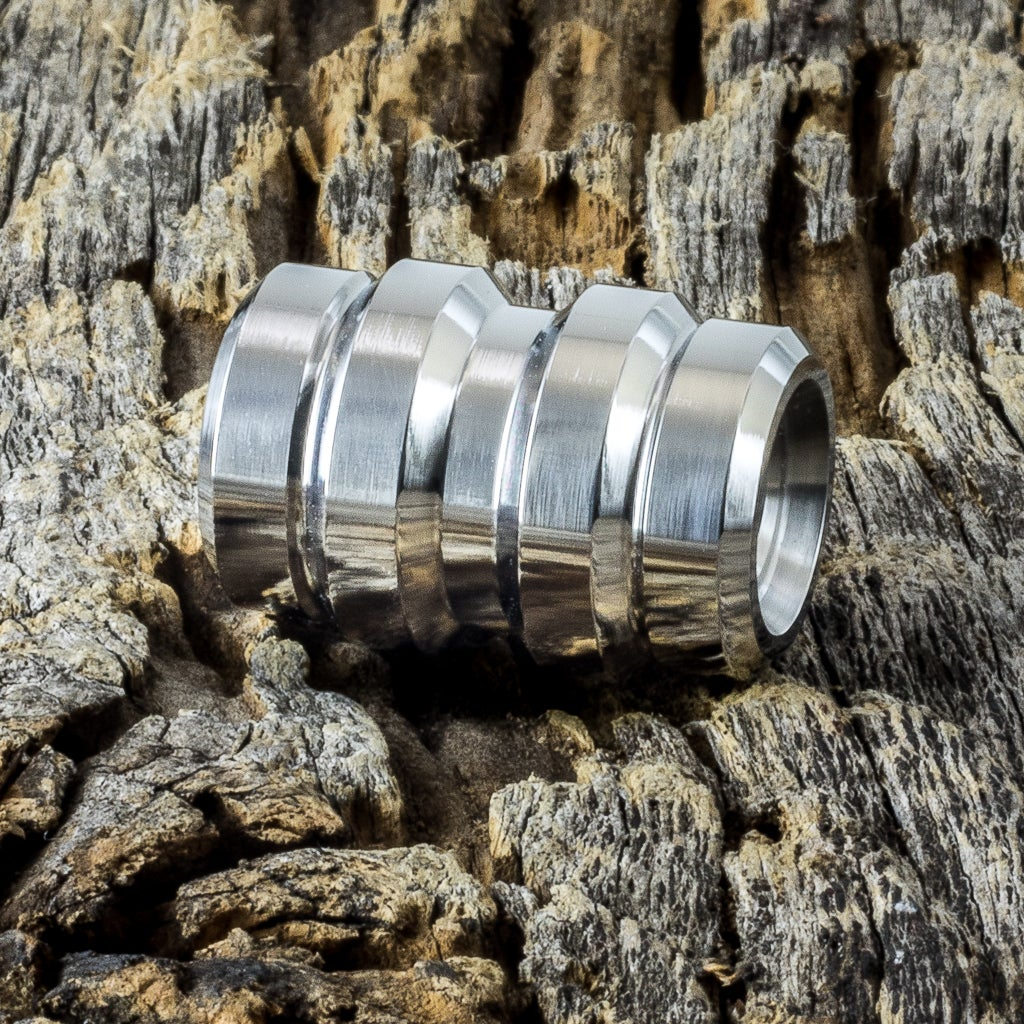 Image of Keg Polished Ti Bead