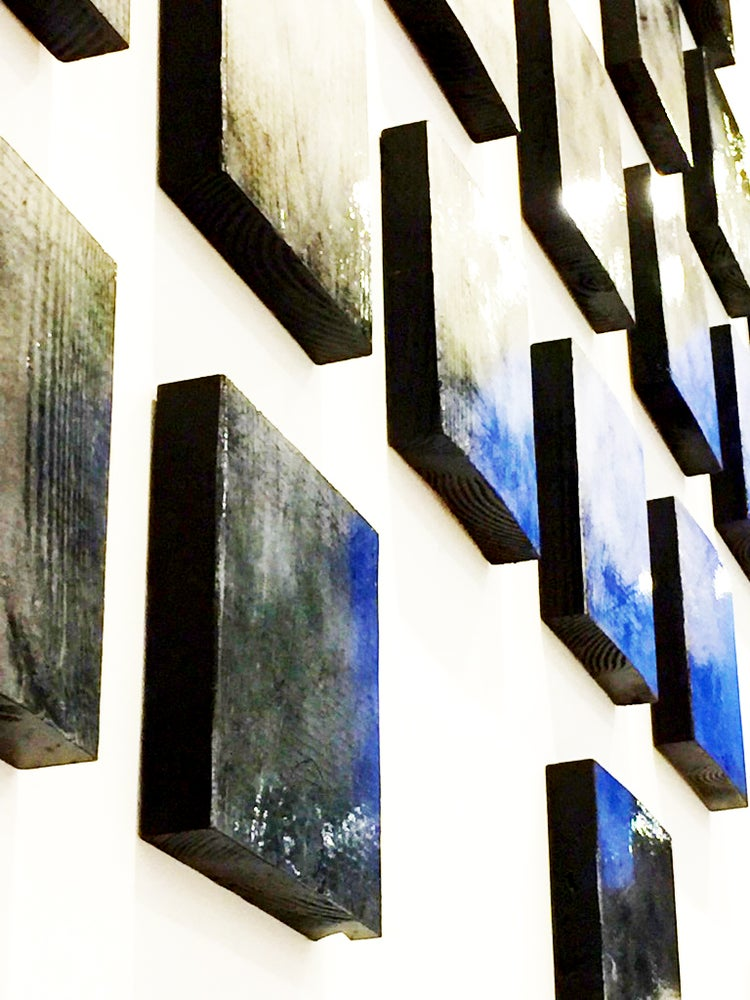Image of 'IN THE FLOW' | Modern Wall Art | Wood Wall Sculpture | Large Wall Art | Art Installation
