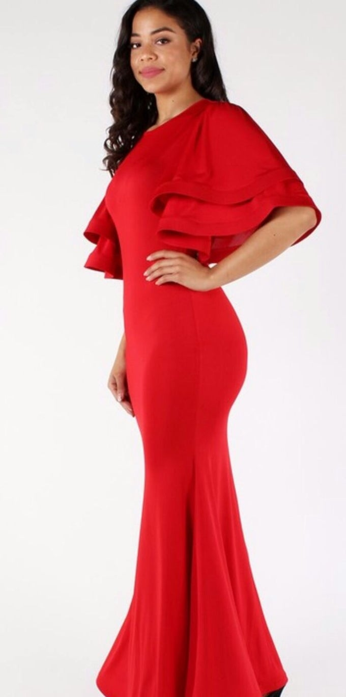 Image of Lady in red