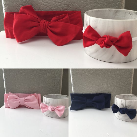 Image of Headwrap/Nylon headband Sets