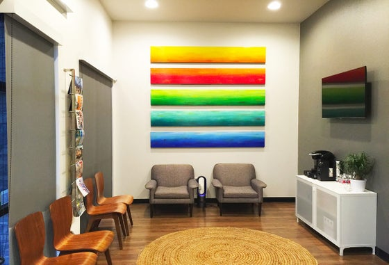 Image of 'SOLIDARITY LARGE' | Large Wall Art | Lobby Art | Waiting Room Art | Original Modern Art