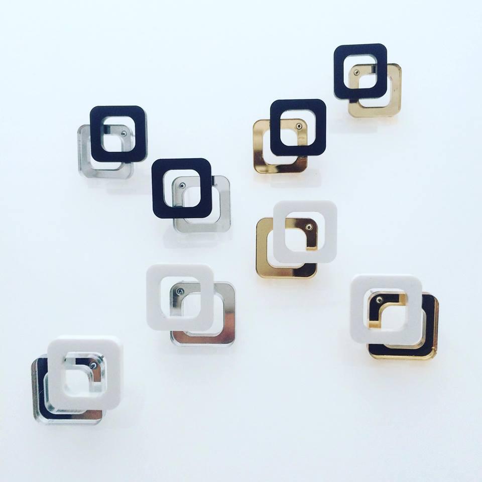 Image of Náušnice / Earrings DoublemirrorSque