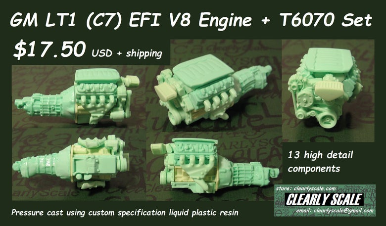 Image of GM LT1 (C7 Corvette) EFI V8 engine set