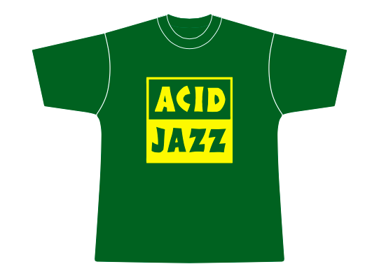 Image of Acid Jazz Limited Edition Bottle Green & Yellow T-Shirt