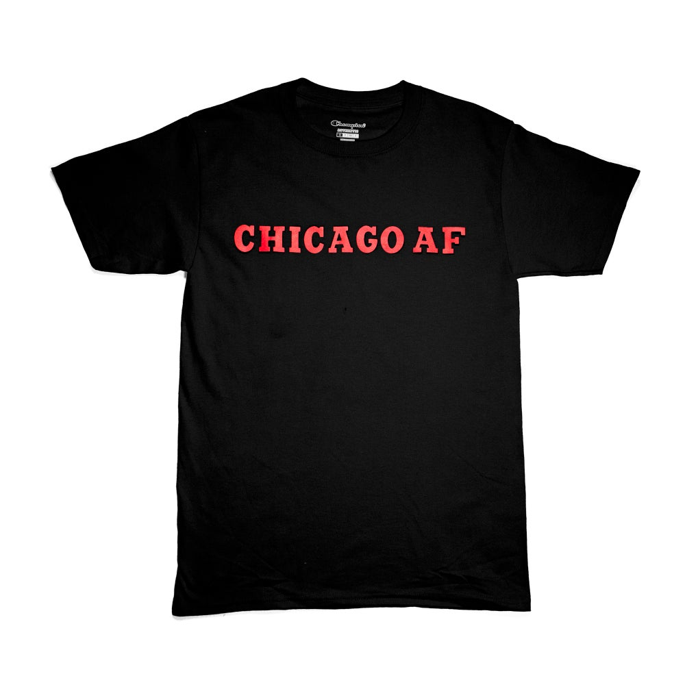Image of CHICAGO AF T-SHIRT BLACK