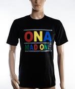 Image of The 'OnaMadOne' Rainbow Tee (Black)
