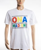 Image of The 'OnaMadOne' Rainbow Tee (White)
