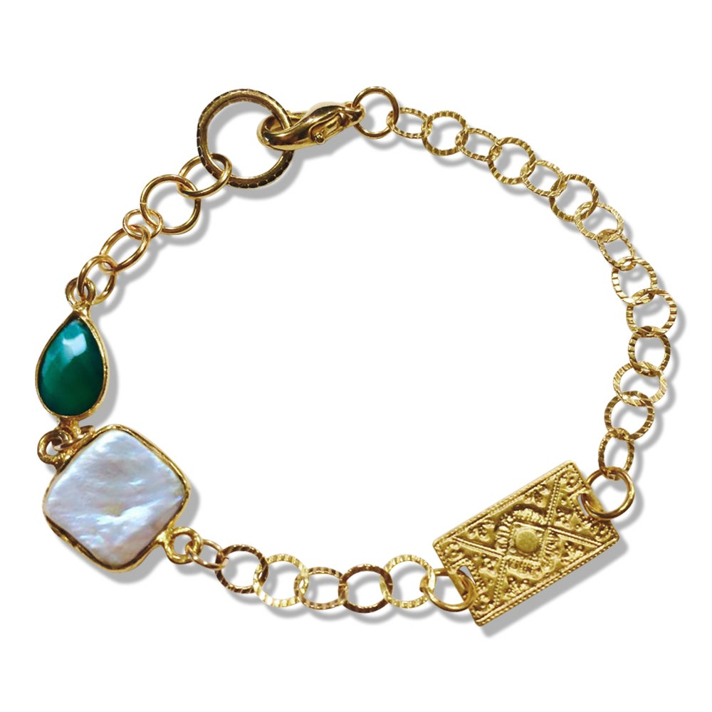 Image of GRACIE PEARL & RAINDROP BRACELET
