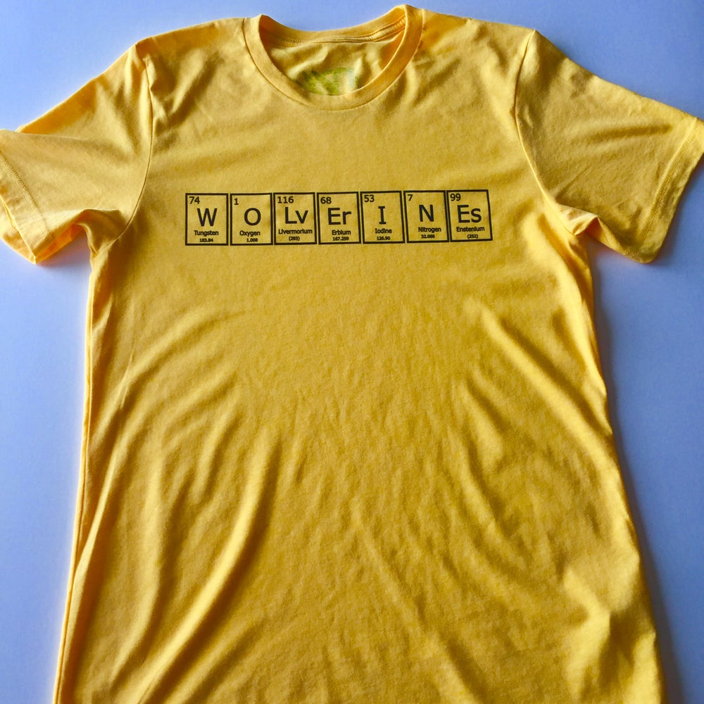 Image of periodic wolverines. - graphic tee