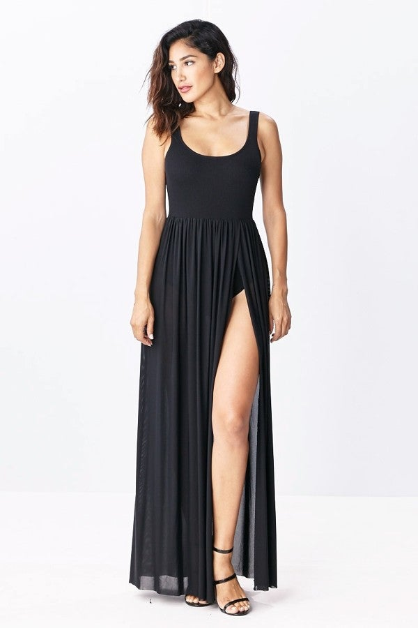 Image of Barely Basic High Split Dress