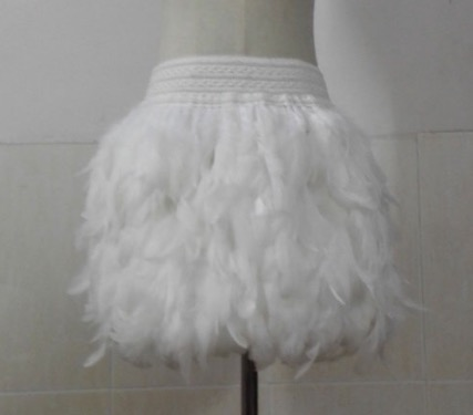 Image of White feather skirt