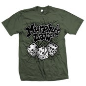 "Image of MURPHY'S LAW ""Dice"" Army Green T-Shirt"