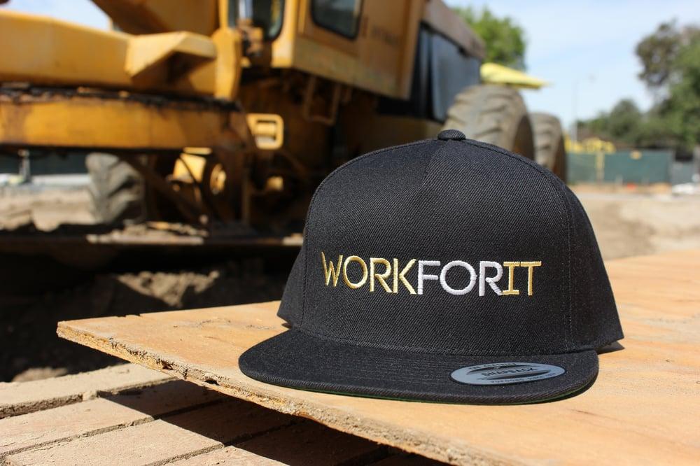Image of Gold/Silver Black Snapback Hat