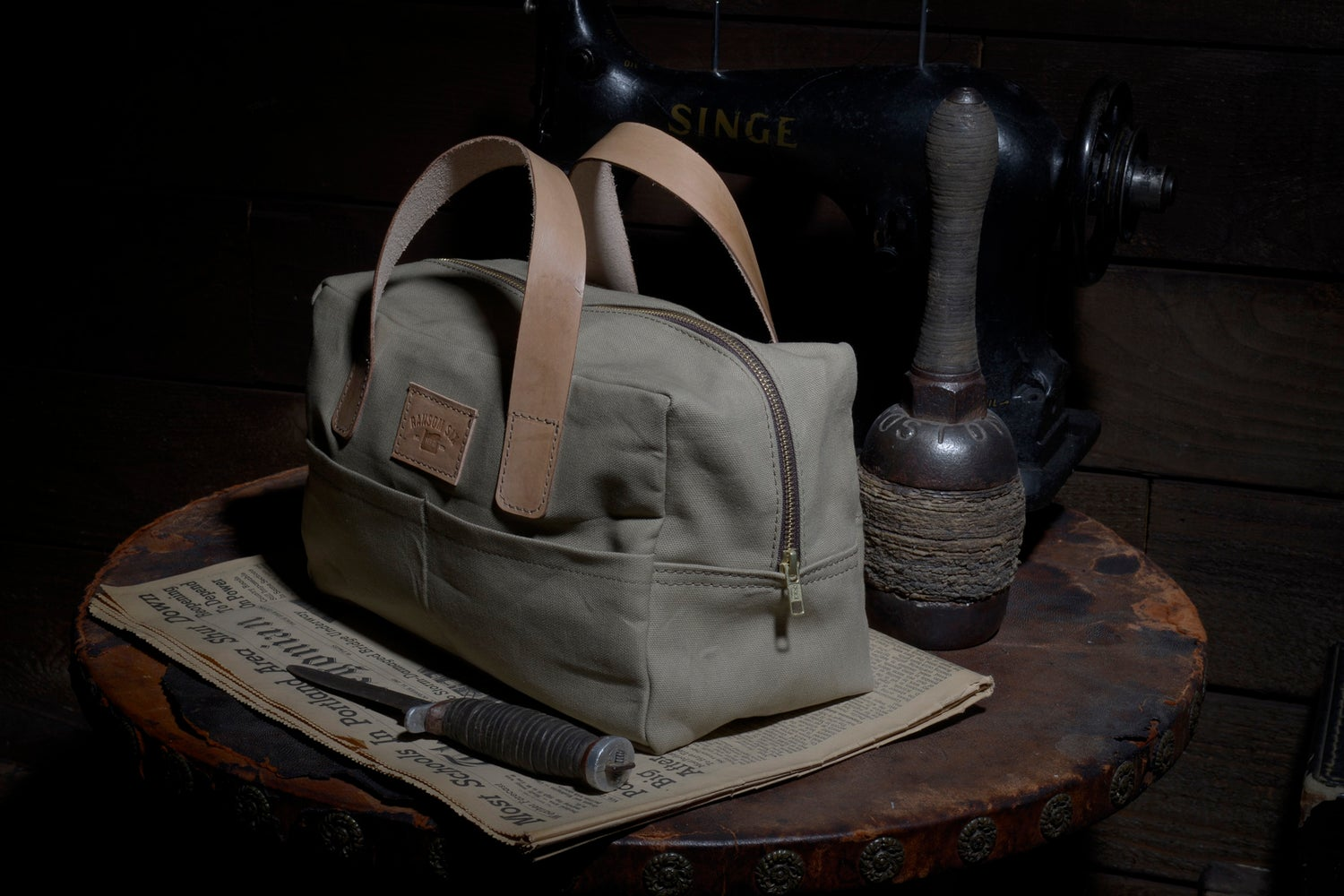 Image of The Party Bag - Waxed Canvas - Olive