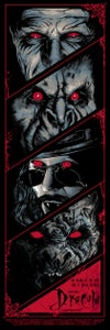 Image of DRACULA art print - BLOOD RED VERSION