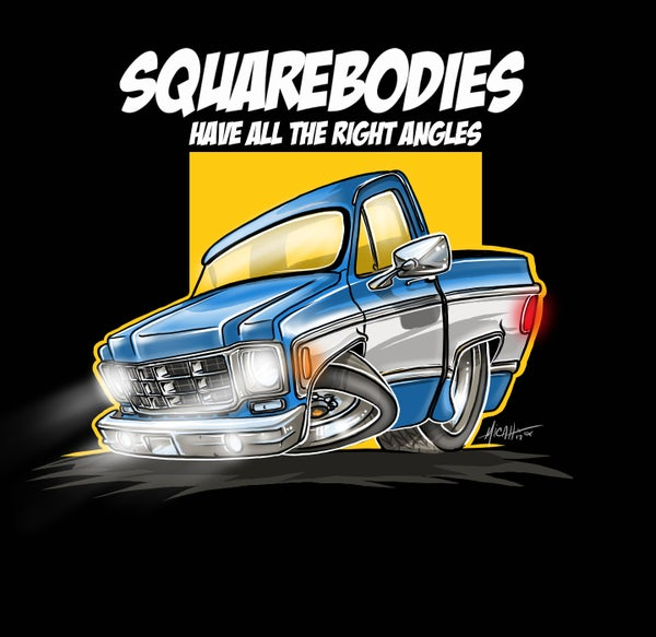 Image of SQUAREBODY...ALL THE RIGHT ANGLES (BLUE)