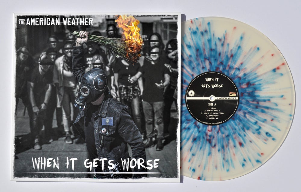 "Image of The American Weather - ""When It Gets Worse"" Limited Edition Color Splatter Vinyl"