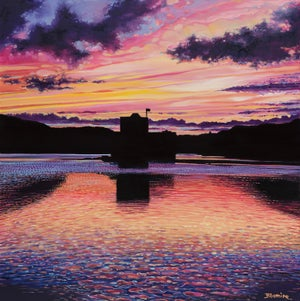 Image of Barra sunset LARGE giclée print