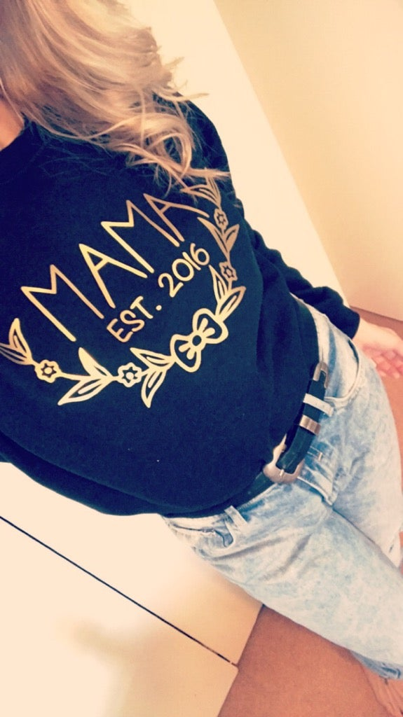 Image of Mama EST. bow edition sweater