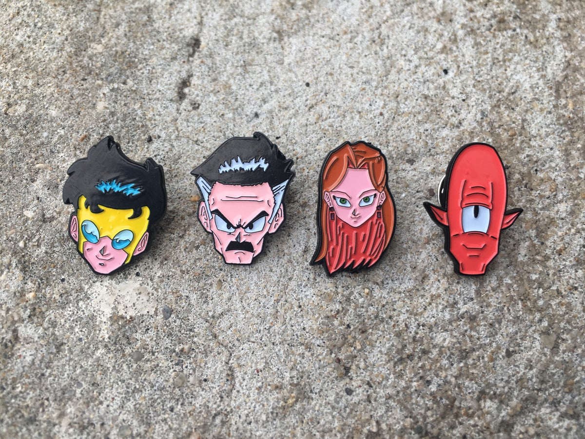 Space Warriors From Universe 7 Soft Enamel 4-Pin Set