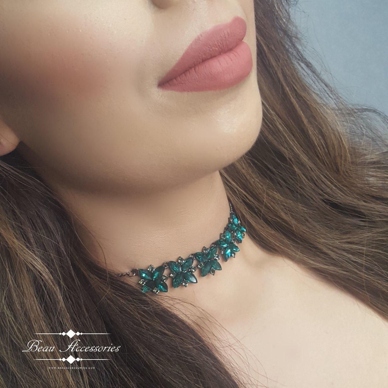 Image of Emerald Choker/Headpiece