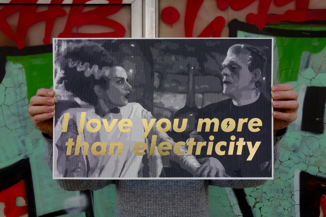 Image of I love you more than electricity / silkscreen / second edition