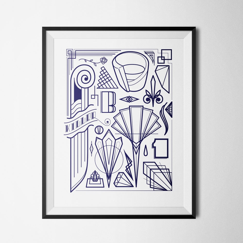Image of ART DECO FLASH - PRINT (8.5X11)