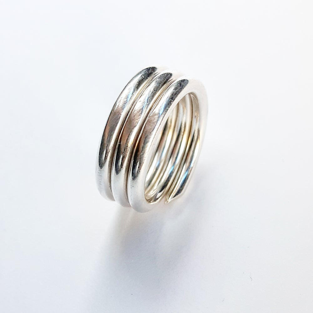Image of Triple Wrapped .999 Fine Silver Rings