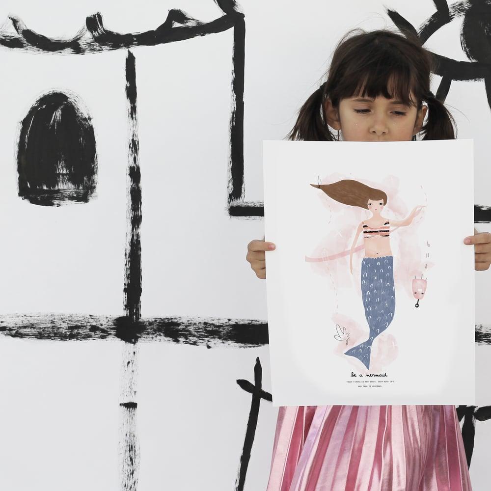 Image of ART PRINT   BE A MERMAID