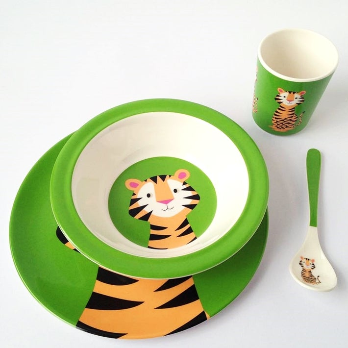Image of Tiger Melamine Mealtime Set