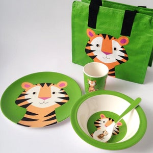Image of Tiger Melamine Mealtime Set