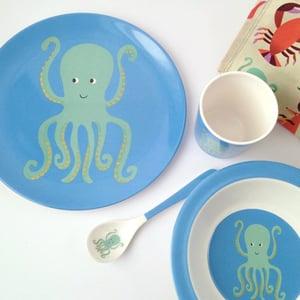 Image of Octopus Melamine Mealtime Set