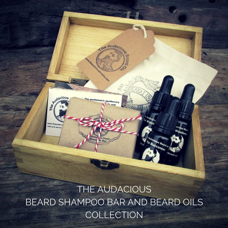 Image of The Audacious Beard Shampoo Bar and Beard Oils Collection