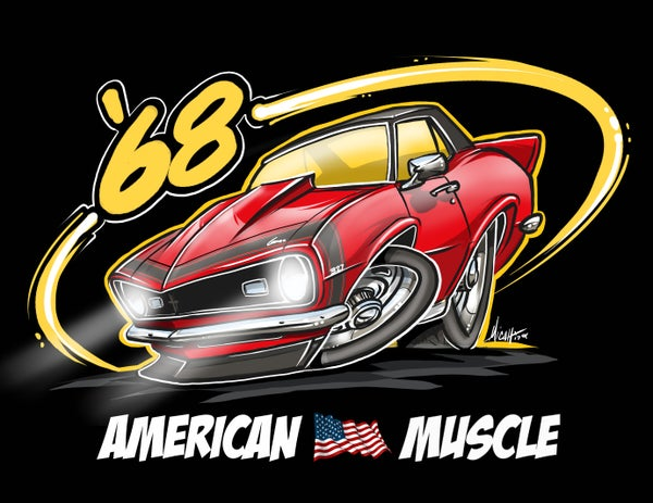 Image of AMERICAN MUSCLE 68 (RED)