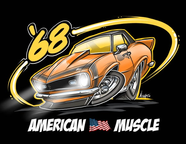 Image of AMERICAN MUSCLE 68 (ORANGE)