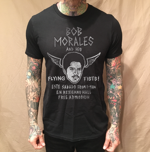 Image of BOB FLYING FISTS BLACK TEE