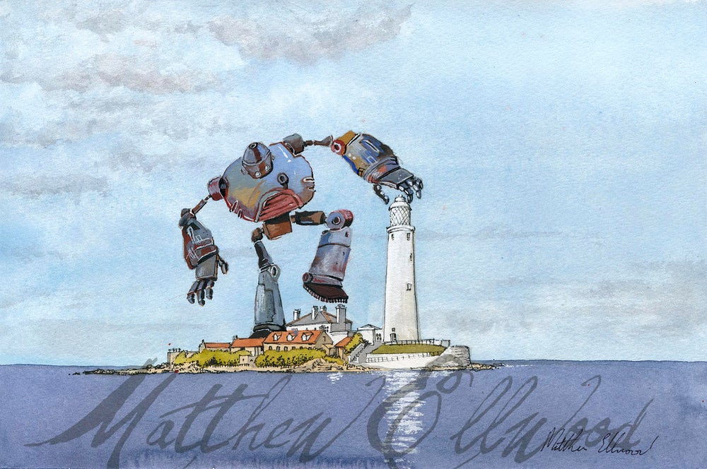 Image of Towering Monster (iii) Robot at St.Mary's Lighthouse.