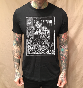 Image of EL BOB LOTERIA ON BLACK TEE