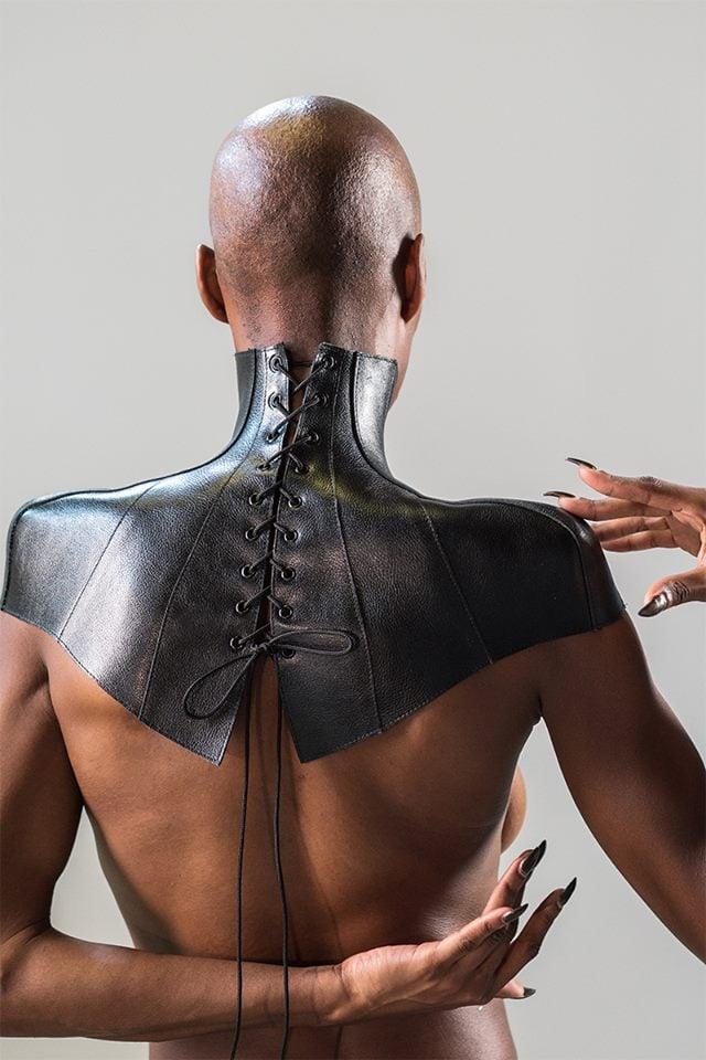 Image of KORNAN leather posture capelet