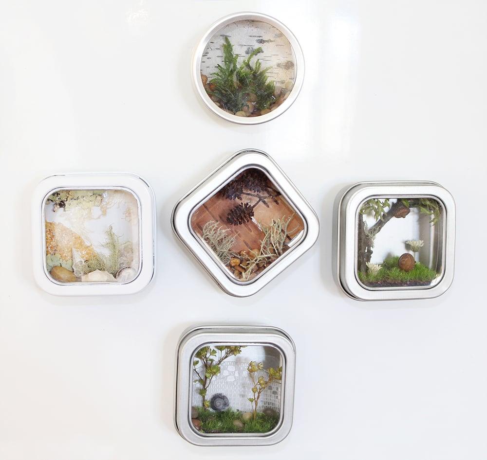 Image of Nautical Nature Magnet, Gift for Nature-Lover, Nature Art Fridge Magnet