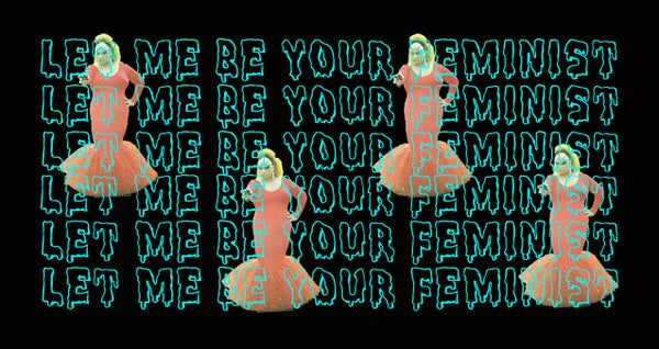 """Image of """"Let Me Be Your Feminist"""" Sticker"""