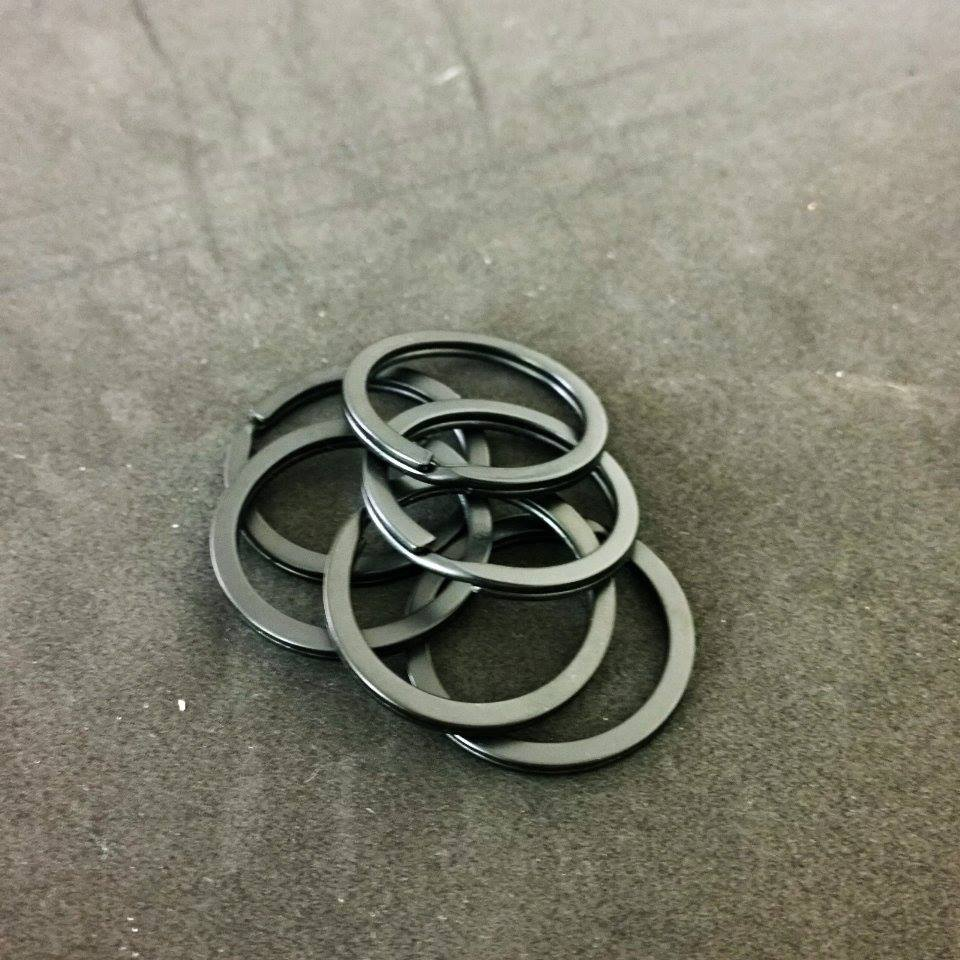Image of Black Split Ring 1 Inch