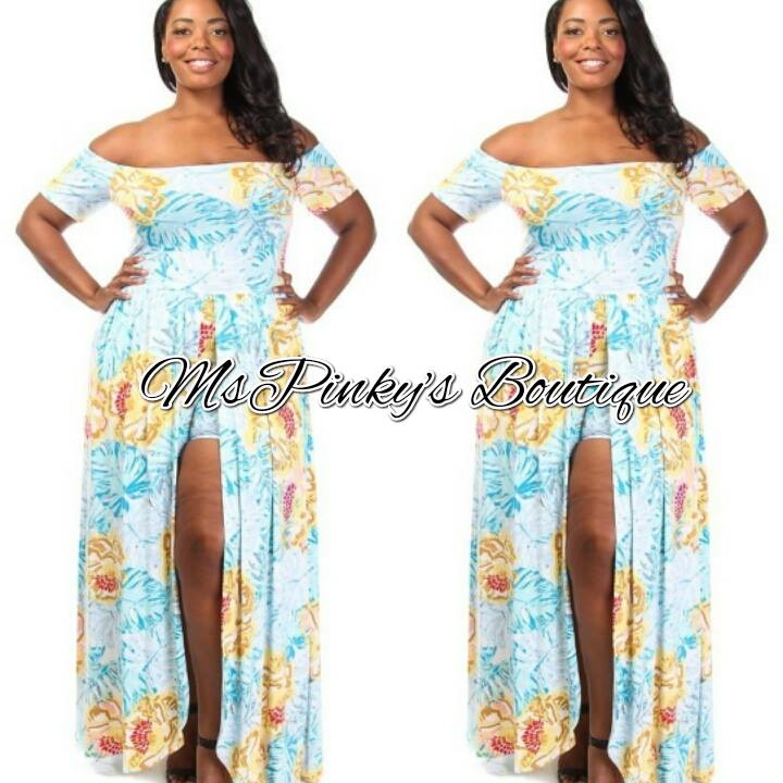 Welcome To Mspinkys Boutique Online Plus Size Shoulder Floral