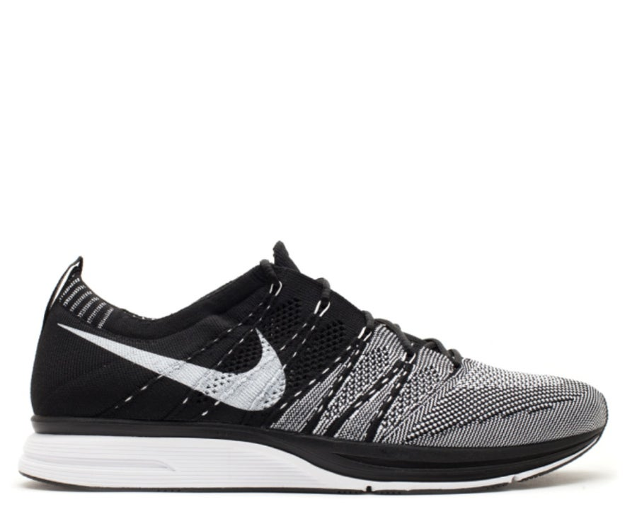 "Image of NIKE FLYKNIT TRAINER ""BLACK WHITE"" 532984 010"
