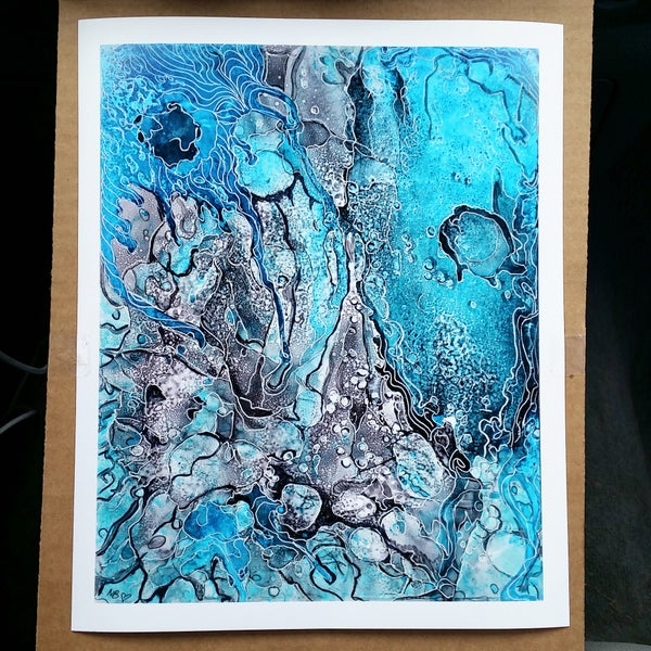 """Image of """"Be Like Water"""" Limited Edition Fine Art Print"""
