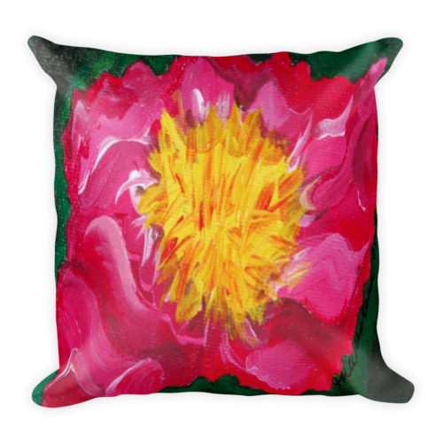 "Image of ""Flower in Fuchsia"" Pillow"